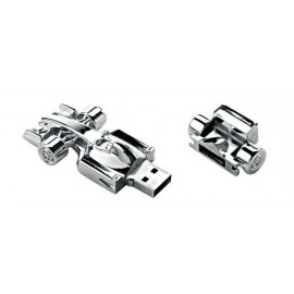 CHIAVE USB 8 Gb AUTO F1 IN SILVER PLATED
